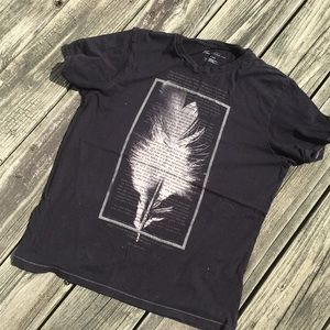Japanese Black and Grey Feather Tee